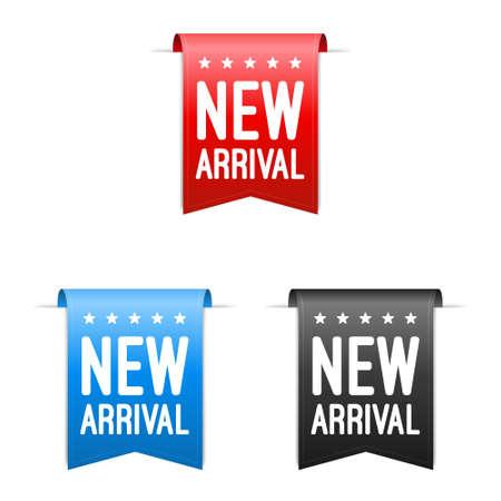 新しい到着のラベル  イラスト・ベクター素材