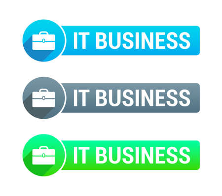 it business: IT Business Banner Illustration