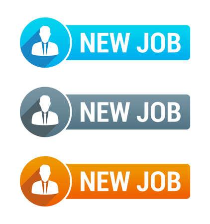 new job: New Job Banner Illustration