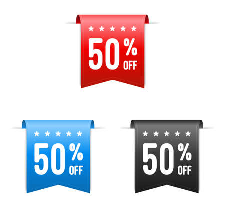 off on: 50 Off Offer Labels