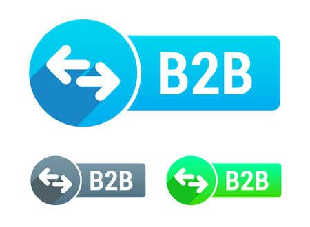 b2b: B2b Banner Vectores