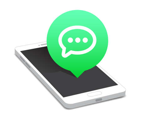 phone message: Phone Message Icon Bubble
