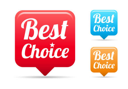 at best: Best Choice Tags Illustration