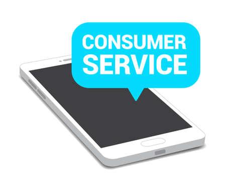 consumer: Phone Consumer Service Bubble