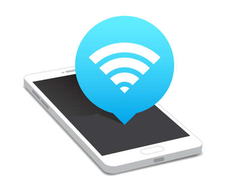 Telefoon Wi-fi Icon Bubble Stock Illustratie