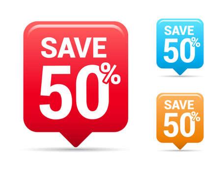50: Save 50 Tags Illustration