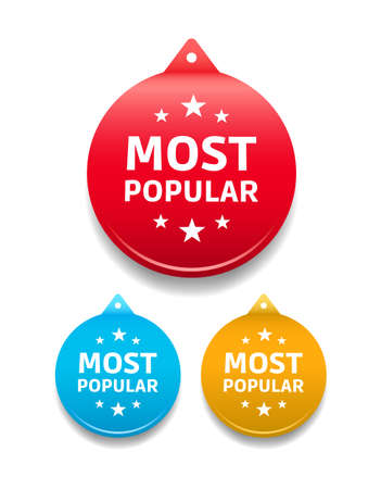most popular: Most Popular Round Tag Illustration