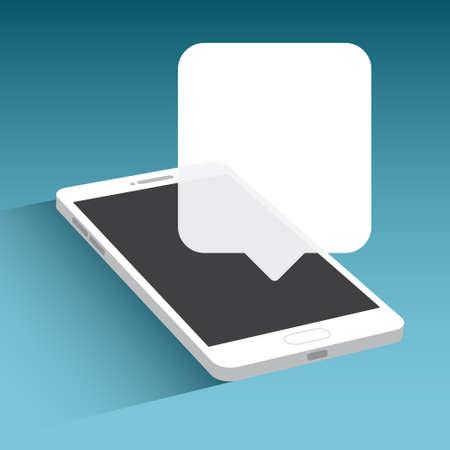 text bubble: Phone Text Bubble Illustration