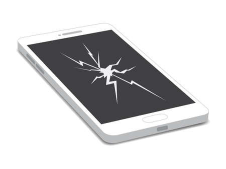 Telefon Cracked Broken Screen