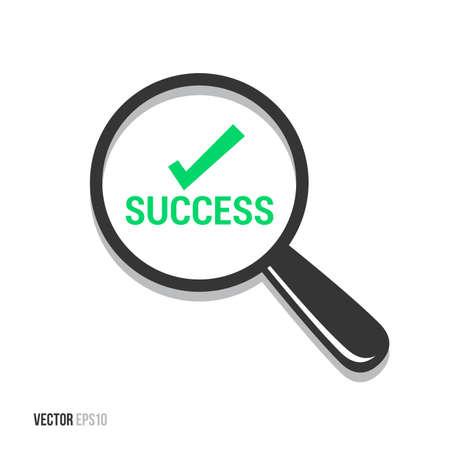 qualify: Success Magnifying Glass Illustration