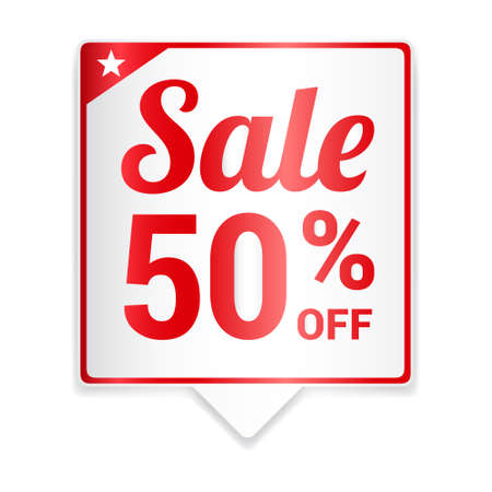 50  off: Sale 50 Off Red Tag Illustration