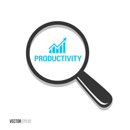 Productiviteit Vergrootglas Vector Illustratie