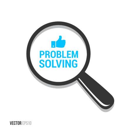 in problem: Problem Solving Magnifying Glass Illustration