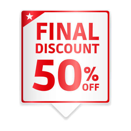 final: Final Discount 50 Off Red Tag Illustration