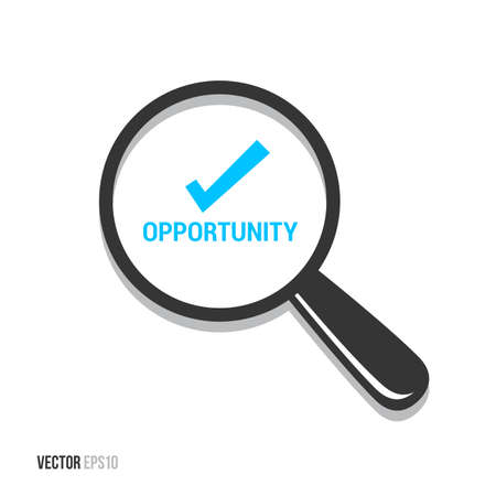 opportunity: Opportunity Magnifying Glass Illustration
