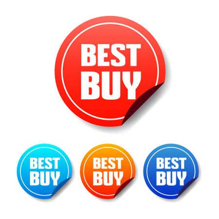 at best: Best Buy Round Stickers