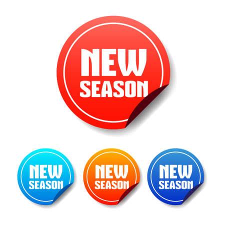the season: New Season Round Stickers