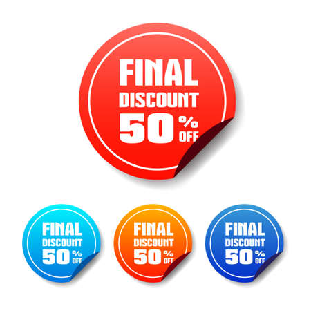 50 off: Final Discount 50 Off Round Stickers