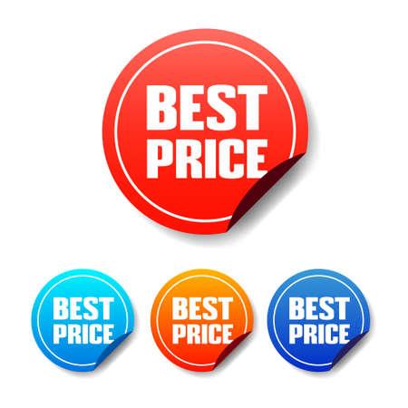 at best: Best Price Round Stickers