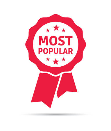 most popular: Most Popular Ribbon Illustration