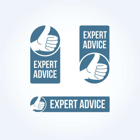 advice: Expert Advice Labels Illustration