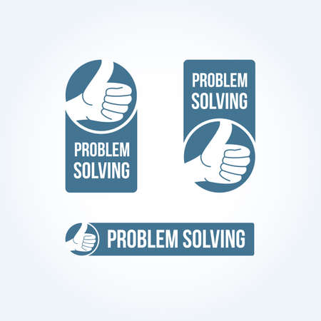 problem: Problem Solving Labels Illustration