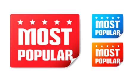 popular: Most Popular Stickers Illustration