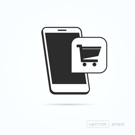 shopping cart icon: Phone Shopping Cart Icon