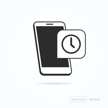 phone the clock: Phone Clock Icon