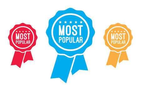 most popular: Most Popular Ribbons Illustration