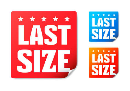 size: Last Size Stickers