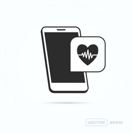 rate: Phone Heart Rate Icon
