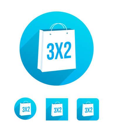 3x2 boodschappentas Stockfoto - 53953889