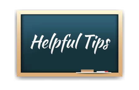 helpful: Helpful Tips Chalkboard