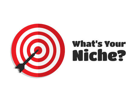 niche: Whats Your Niche Target Aim Icon Illustration