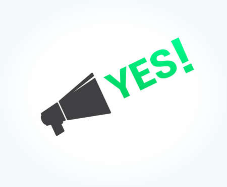 yes you can: Yes Megaphone Icon