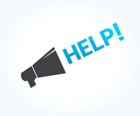 help wanted sign: Help Megaphone Icon