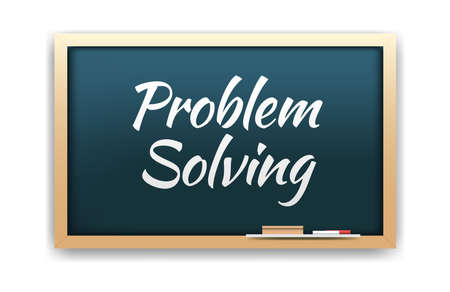 problem: Problem Solving Chalkboard Illustration