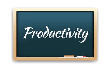 productivity: Productivity Chalkboard Illustration