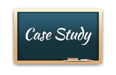 Case Study Chalkboard Vector Illustration
