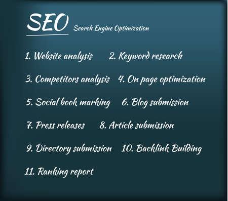 optimization: Search Engine Optimization SEO Process Illustration