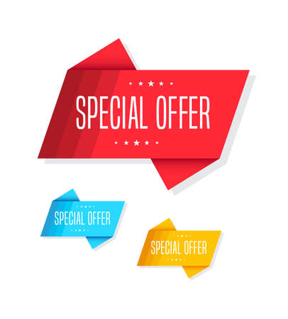 discount tag: Special Offer Tags Illustration
