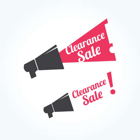 clearance: Clearance Sale Megaphone Icon Illustration
