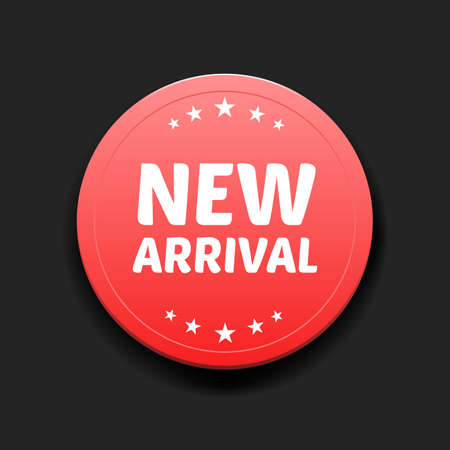 new arrivals: New Arrival Round Label