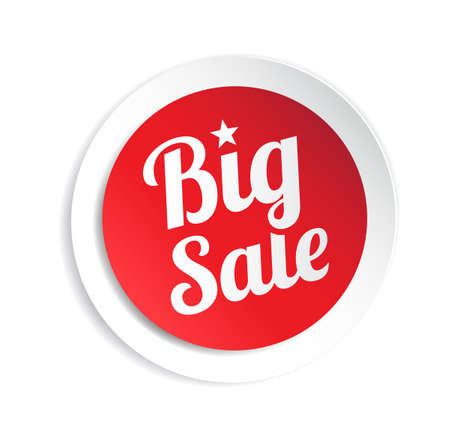 Big Sale Sticker Stock Illustratie