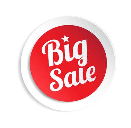 Big Sale Sticker Vectores
