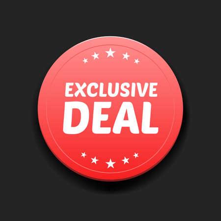 exclusive: Exclusive Deal Round Label