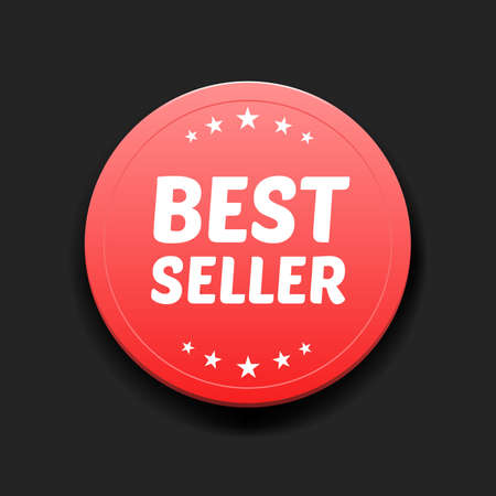 seller: Best Seller Round Label Illustration