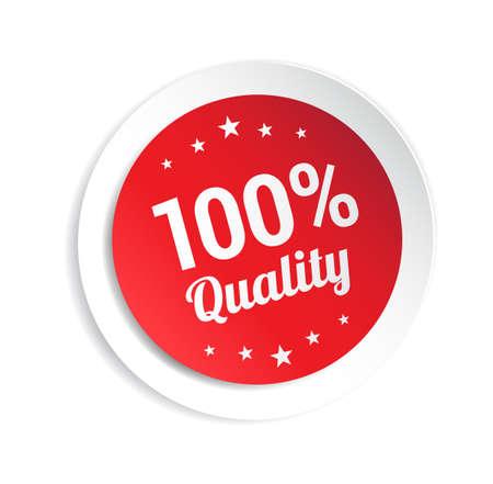 hundred: 100% Quality Sticker Illustration