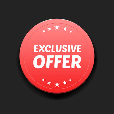 exclusive: Exclusive Offer Round Label Illustration